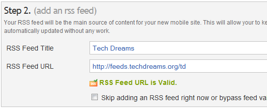 Creating a Mobile Friendly Blog - RSS Feed Details