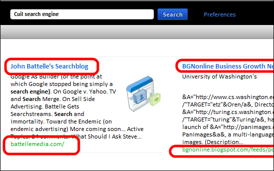 Search Results for Cuil search engine