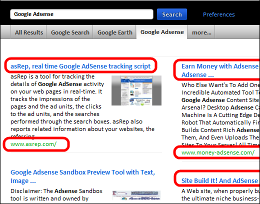 Search Results for Google Adsense