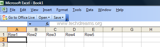 Converting Columns To Rows In Microsoft Excel -  1