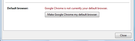 Setting Google Chrome as Default Browser