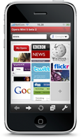 Opera Mini on iPhone