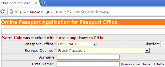 new passport application online vadodara