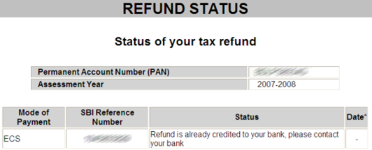 how to get income tax refund from income tax department