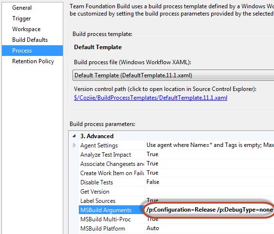 tfs_specifying_msbuild_supress_debug_pdb_files