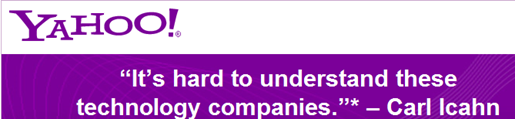 Yahoo Page Against Icahn