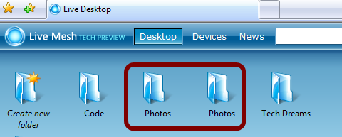 Duplicate Folders In Windows Live Mesh