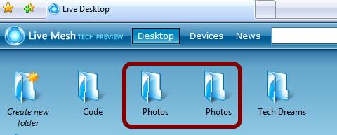 Duplicate Folders In Windows Live Mesh
