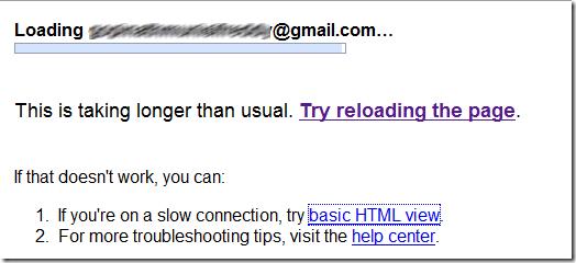 GMail Server Error 1