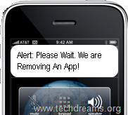 iPhone App Removing Alert