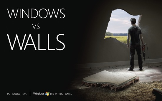 Windows vs Walls Wallpaper