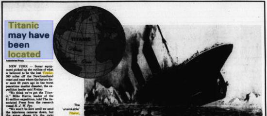 Google Scanning Old Newspaper