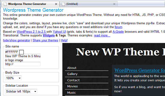 Wordpress_Theme_Generator_Simple_User_Interface