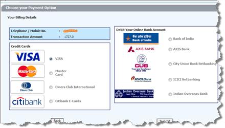 bsnl broadband online payment