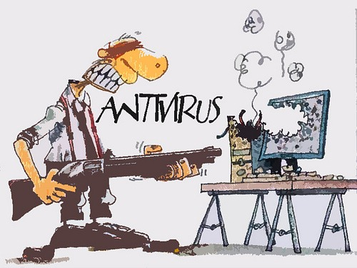 antivirus spray by Chris Dewey.