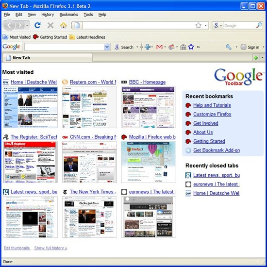 chrome_style_startup_page_in_firefox