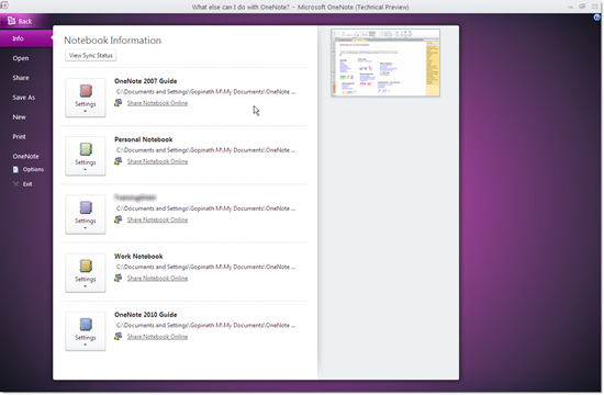 office_2010_screenshot_tour_onenote_start_page
