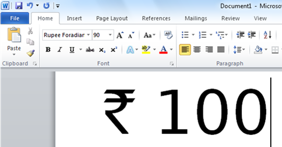 how_to_type_Indian_rupee_symbol_in_word_excel_and_other_documents