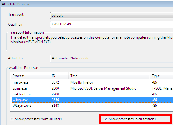 how_to_attach_visual_studio_2010_to_iis_process_on_windows_7