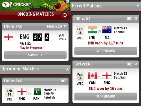 check_live_cricket_scores_on_nokia_iphone_using_yahoo_cricket_scores_app