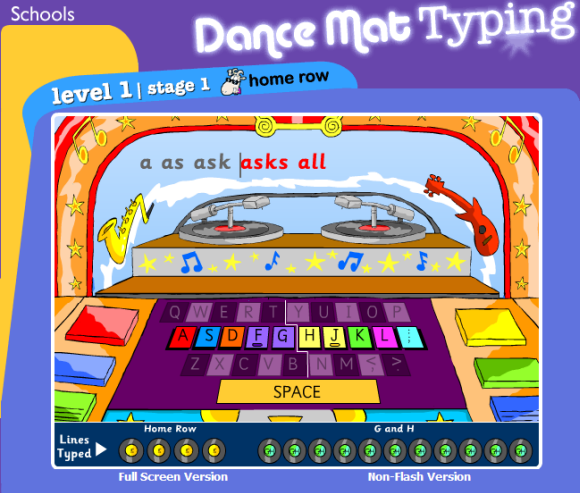 BBC_DanceMat_Typing_free_online_tutor